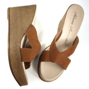 Anthena Alexander wedge brown sandals size 41